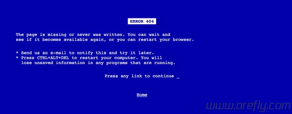 wordpress-404-windows-blue-screen-demo